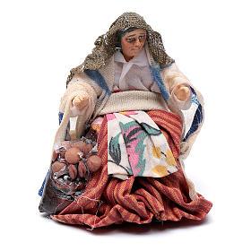 Neapolitan Nativity figurine, female roast chestnut seller, 8 cm s1