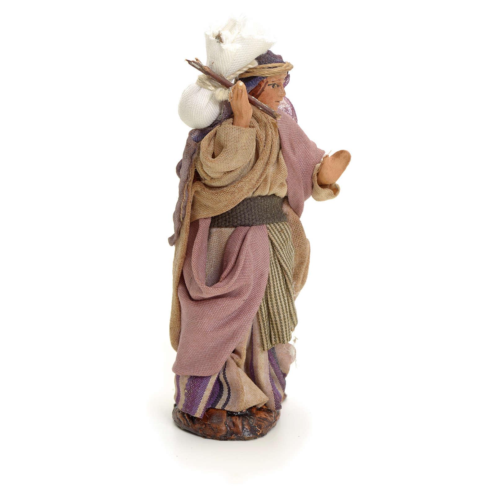 Mujer árabe con saco cm 8 pesebre napolitano 4