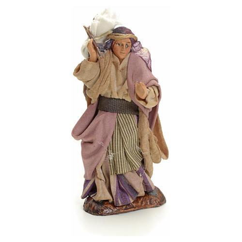 Mujer árabe con saco cm 8 pesebre napolitano 1