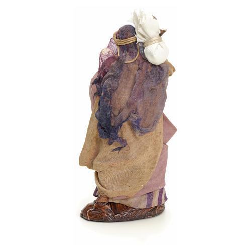 Mujer árabe con saco cm 8 pesebre napolitano 3