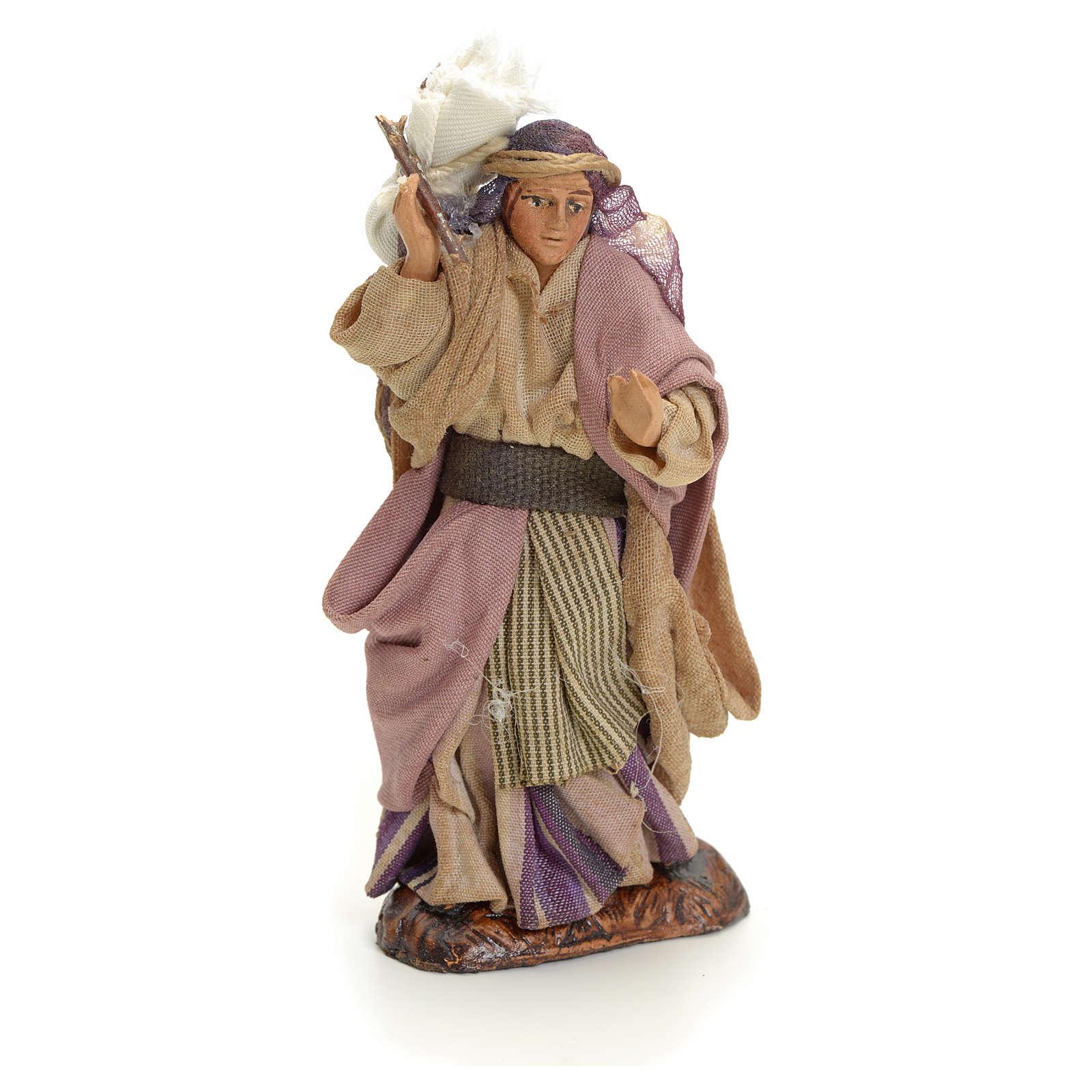 Neapolitan nativity figurine, Arabian woman, 8cm 4