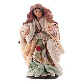 Neapolitan Nativity Scene: Neapolitan nativity figurine, walking woman, 8cm