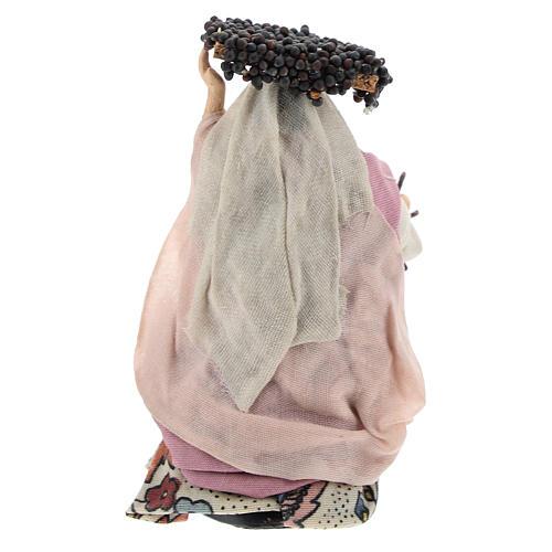 Mujer con racismo de uvas cm 8 pesebre napolitano 4