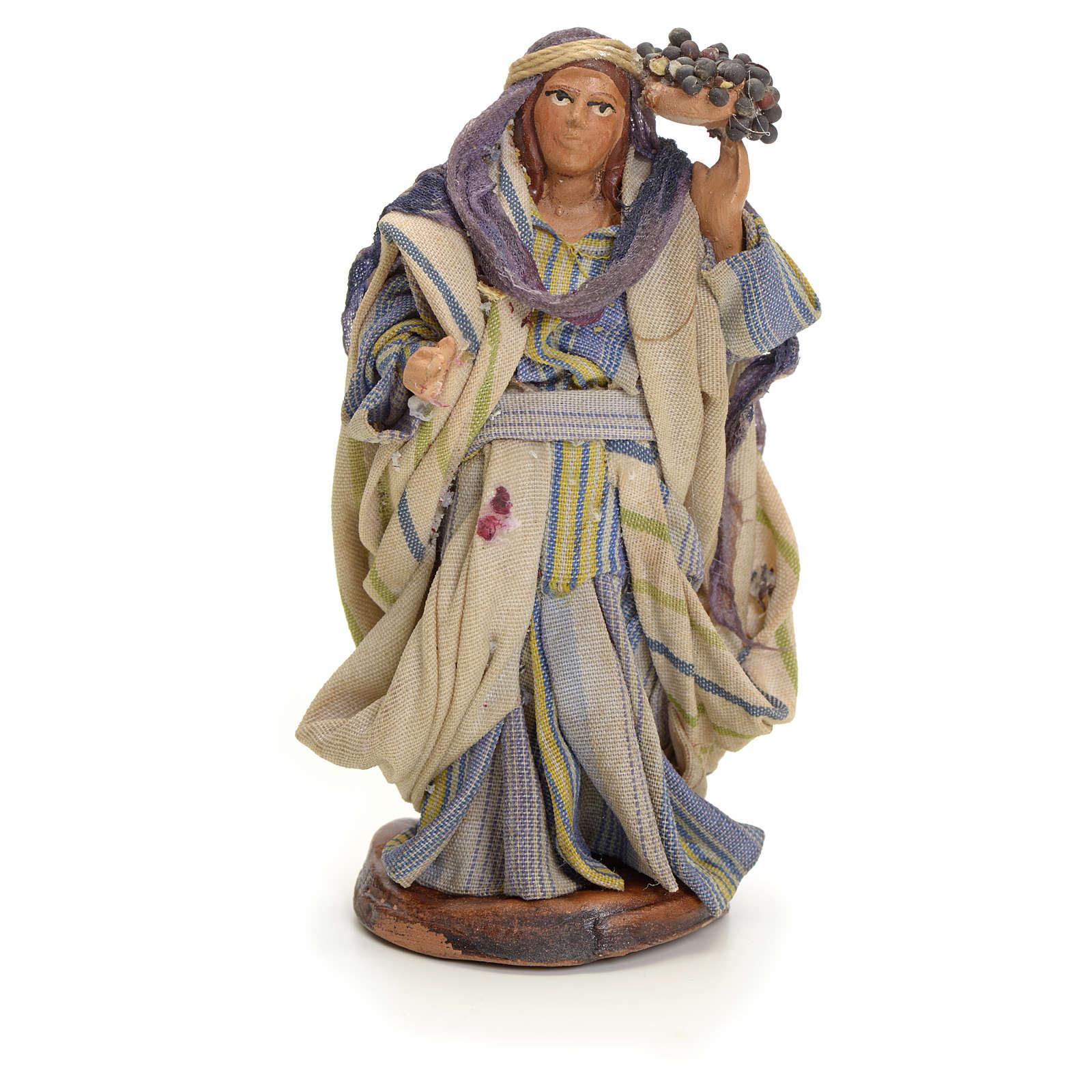 Femme aux grappes crèche Napolitaine 8 cm 4