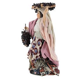 Femme aux grappes crèche Napolitaine 8 cm s2