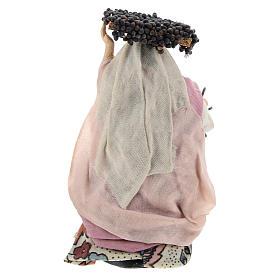 Femme aux grappes crèche Napolitaine 8 cm s4