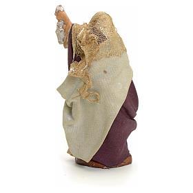 Neapolitan Nativity figurine, old lady with lantern, 8 cm s3