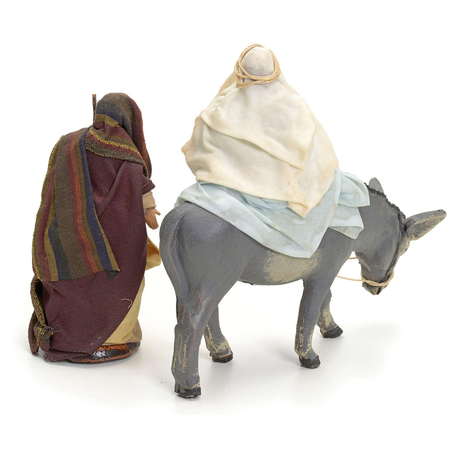 Huida a Egipto cm 8 pesebre napolitano 4