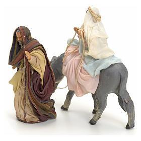 Giuseppe e Maria incinta su asino 8 cm s1