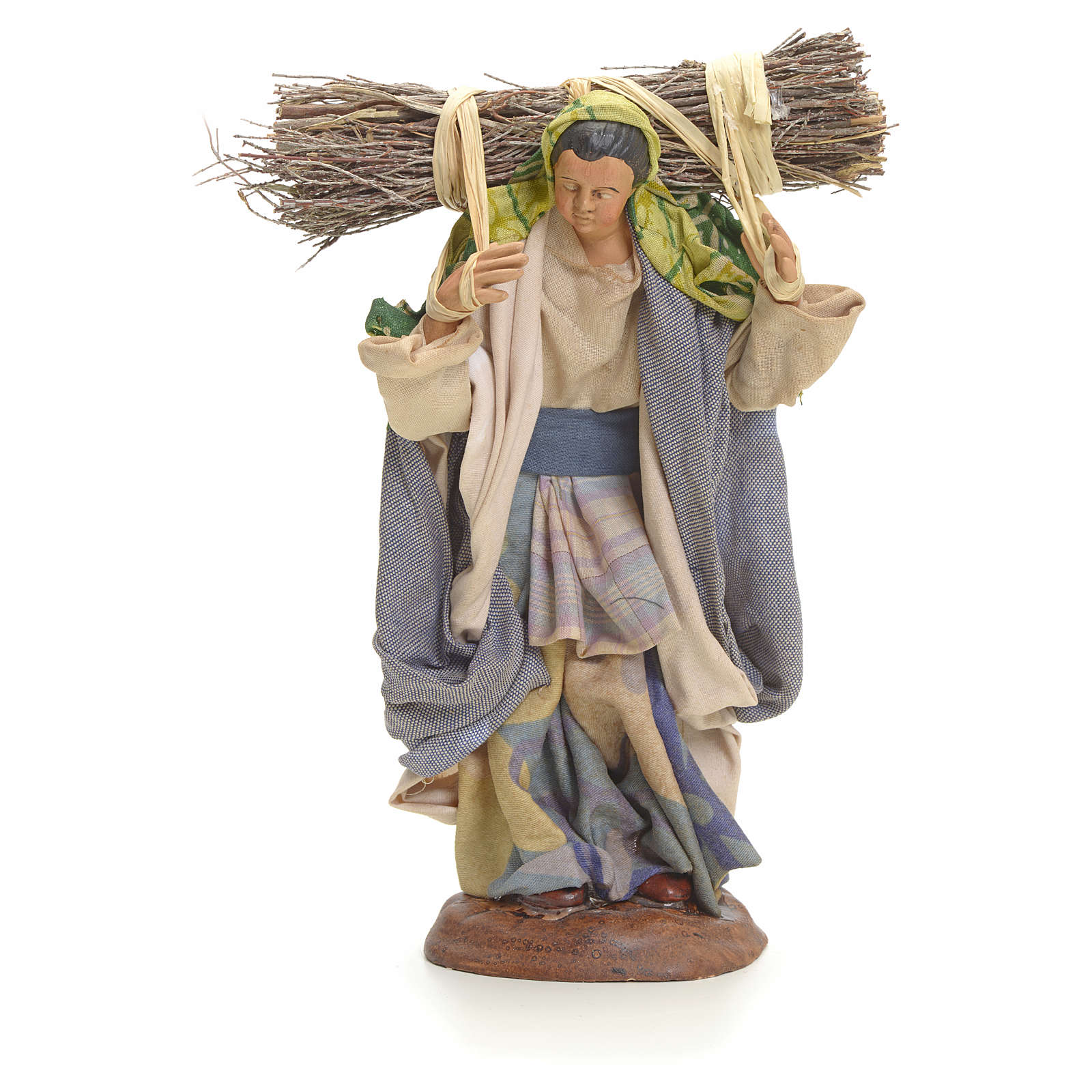 Neapolitan Nativity figurine, woodswoman, 18 cm 4