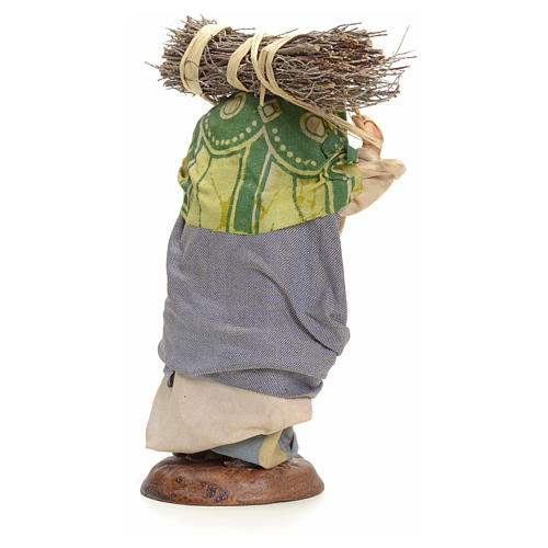 Mujer cargando el heno 18 pesebre Napolitano 3