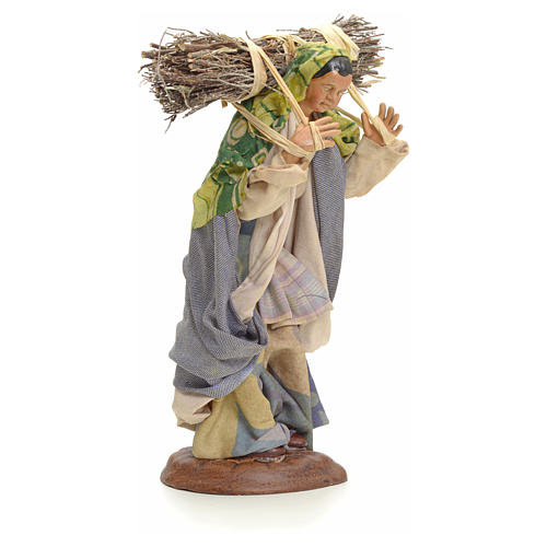 Neapolitan Nativity figurine, woodswoman, 18 cm 2