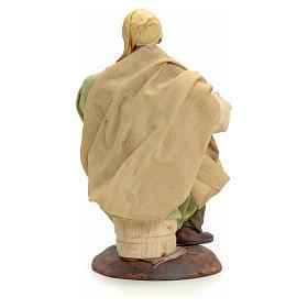 Neapolitan Nativity figurine, old man sitting, 18 cm s3