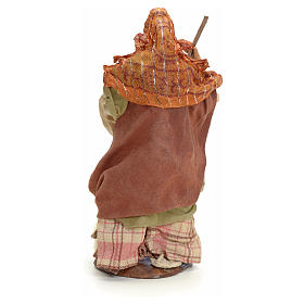 Neapolitan Nativity figurine, old lady with sheep, 18 cm s3