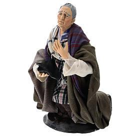Neapolitan Nativity figurine, kneeling beggar, 18 cm s3