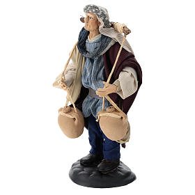 Neapolitan Nativity figurine, man carrying water, 18 cm s3