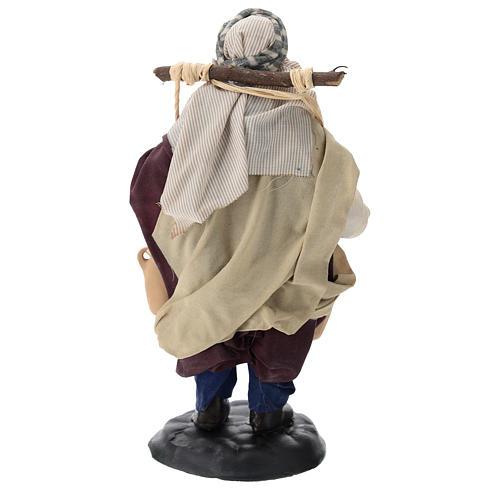 Neapolitan Nativity figurine, man carrying water, 18 cm 5