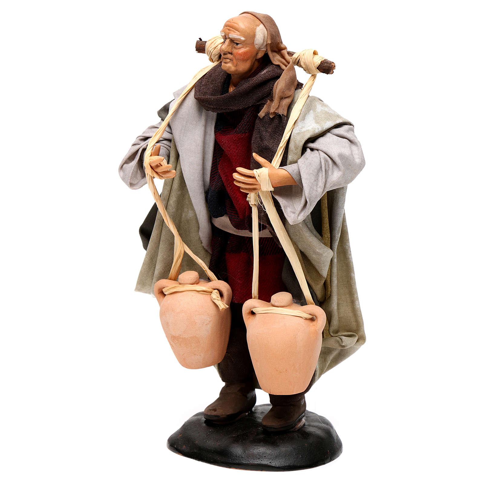 Neapolitan Nativity figurine, man carrying water, 18 cm 4