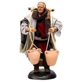 Neapolitan Nativity figurine, man carrying water, 18 cm s1