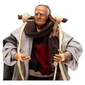 Neapolitan Nativity figurine, man carrying water, 18 cm s2