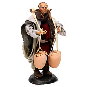 Neapolitan Nativity figurine, man carrying water, 18 cm s4