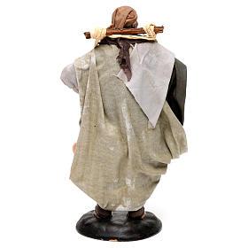 Neapolitan Nativity figurine, man carrying water, 18 cm s5
