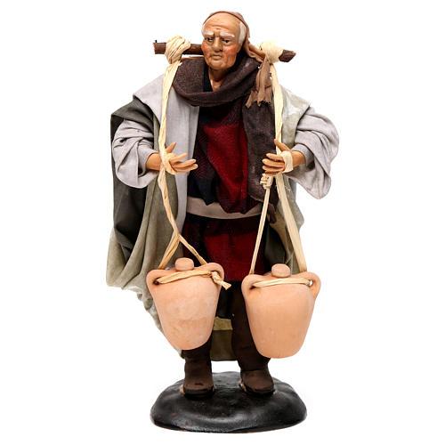 Neapolitan Nativity figurine, man carrying water, 18 cm 1