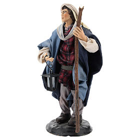 Neapolitan Nativity figurine, man with lantern, 18 cm s3