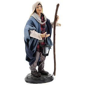 Neapolitan Nativity figurine, man with lantern, 18 cm s4