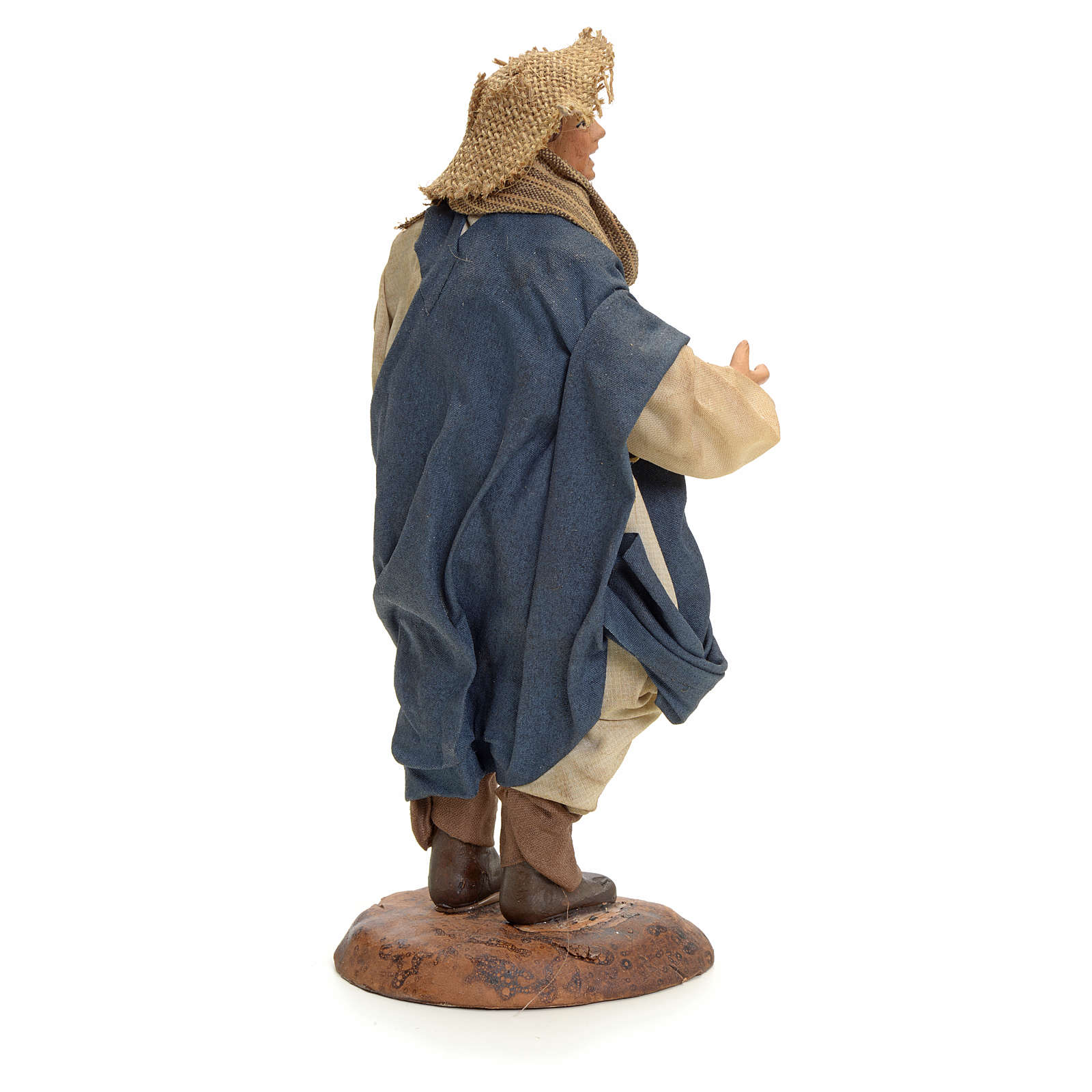 Neapolitan Nativity figurine, man with lantern, 18 cm 4