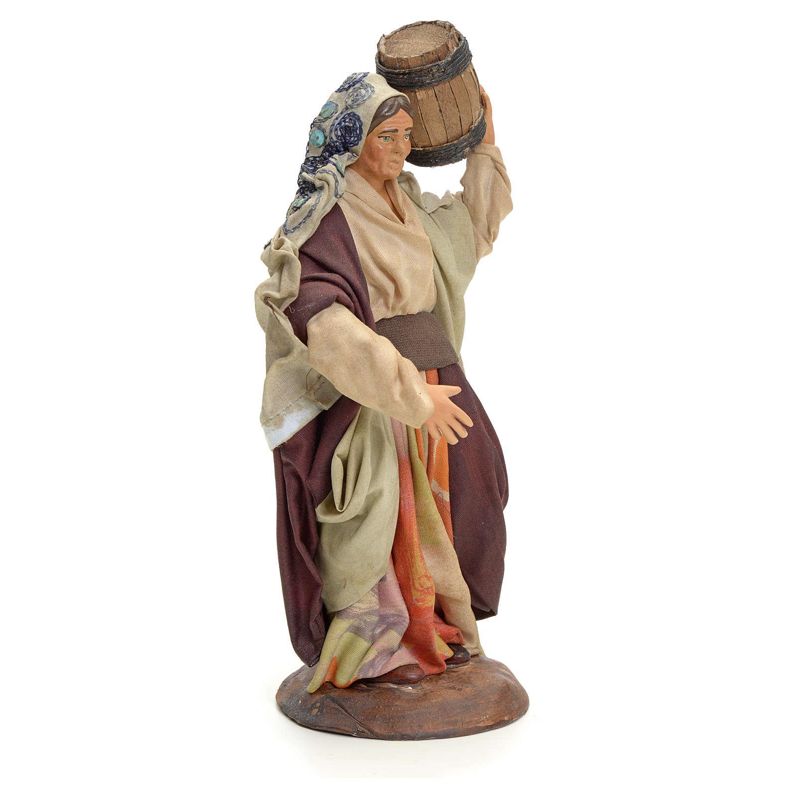 Femme au tonneau crèche Napolitaine 18 cm 4