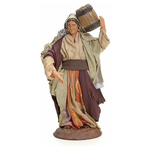 Femme au tonneau crèche Napolitaine 18 cm 1