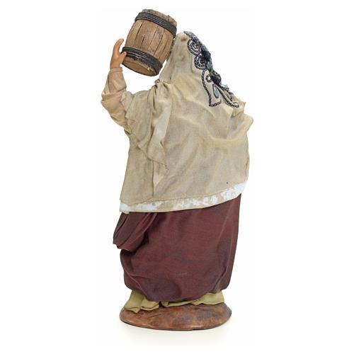 Femme au tonneau crèche Napolitaine 18 cm 3