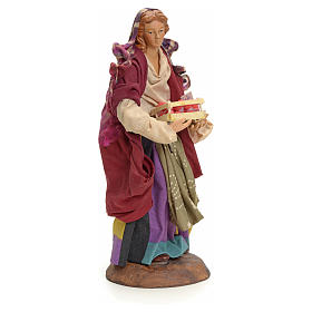 Neapolitan Nativity figurine, woman with apples, 18 cm s2
