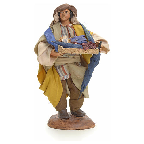 Neapolitan Nativity figurine, umbrella seller, 18 cm 1