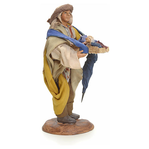 Neapolitan Nativity figurine, umbrella seller, 18 cm 2