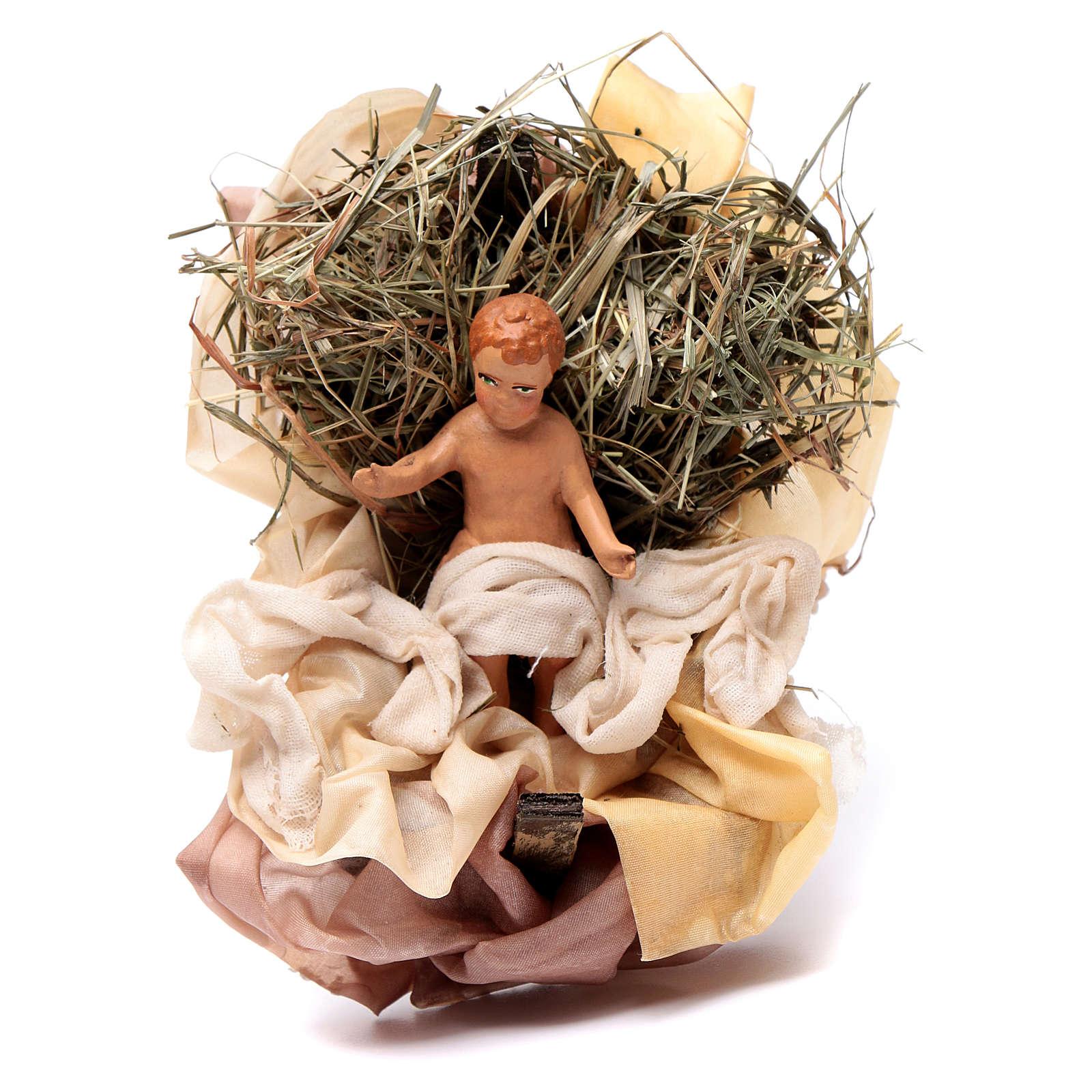 Neapolitan Nativity figurine, baby Jesus, 18 cm 4