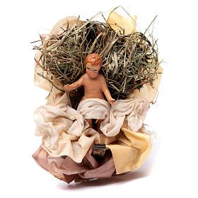 Neapolitan Nativity figurine, baby Jesus, 18 cm s1