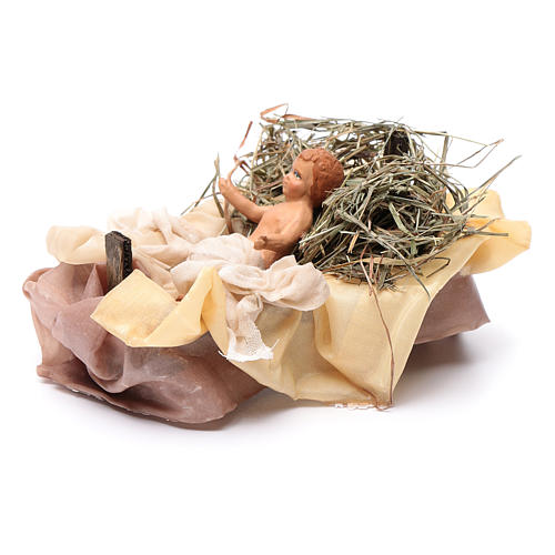 Neapolitan Nativity figurine, baby Jesus, 18 cm 2