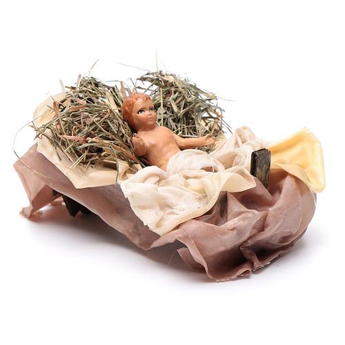 Neapolitan Nativity figurine, baby Jesus, 18 cm 3