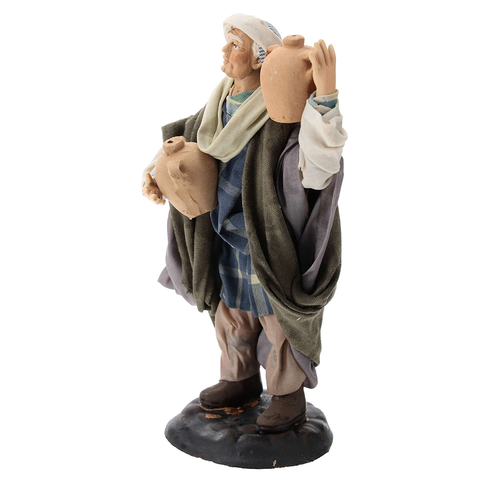 Neapolitan Nativity figurine, man with amphora, 18 cm 4