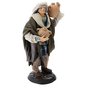 Neapolitan Nativity figurine, man with amphora, 18 cm s4