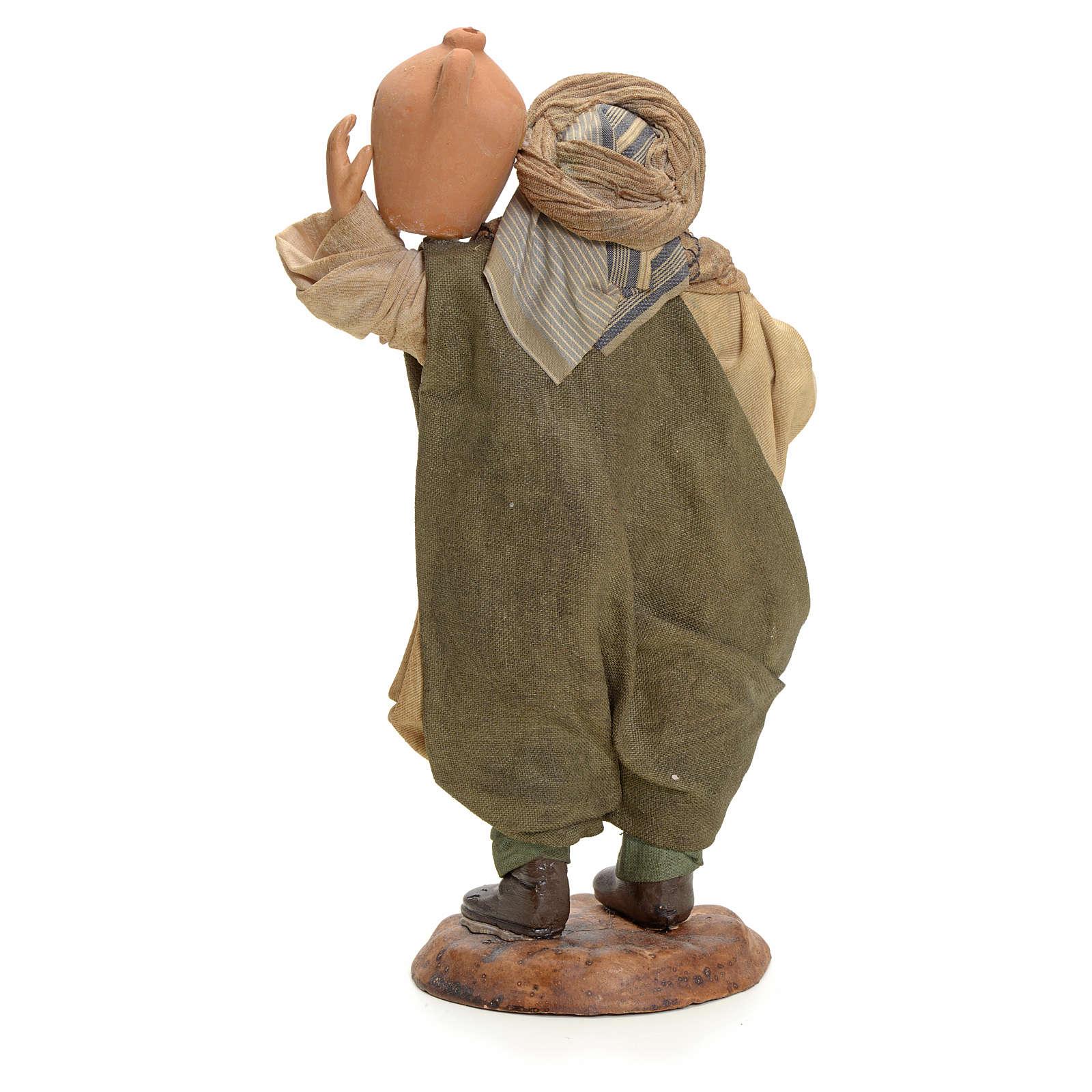 Hombre con jarrón cm pesebre Napolitano 4