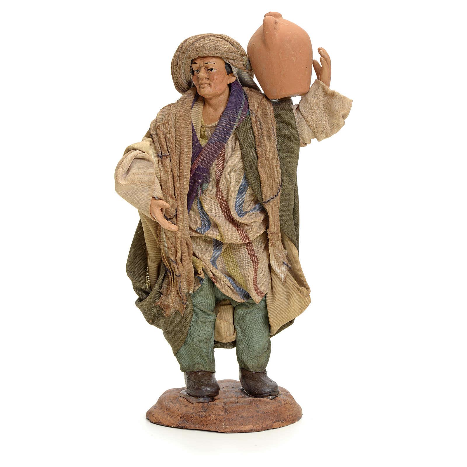 Uomo con brocca 18 cm presepe Napoletano 4