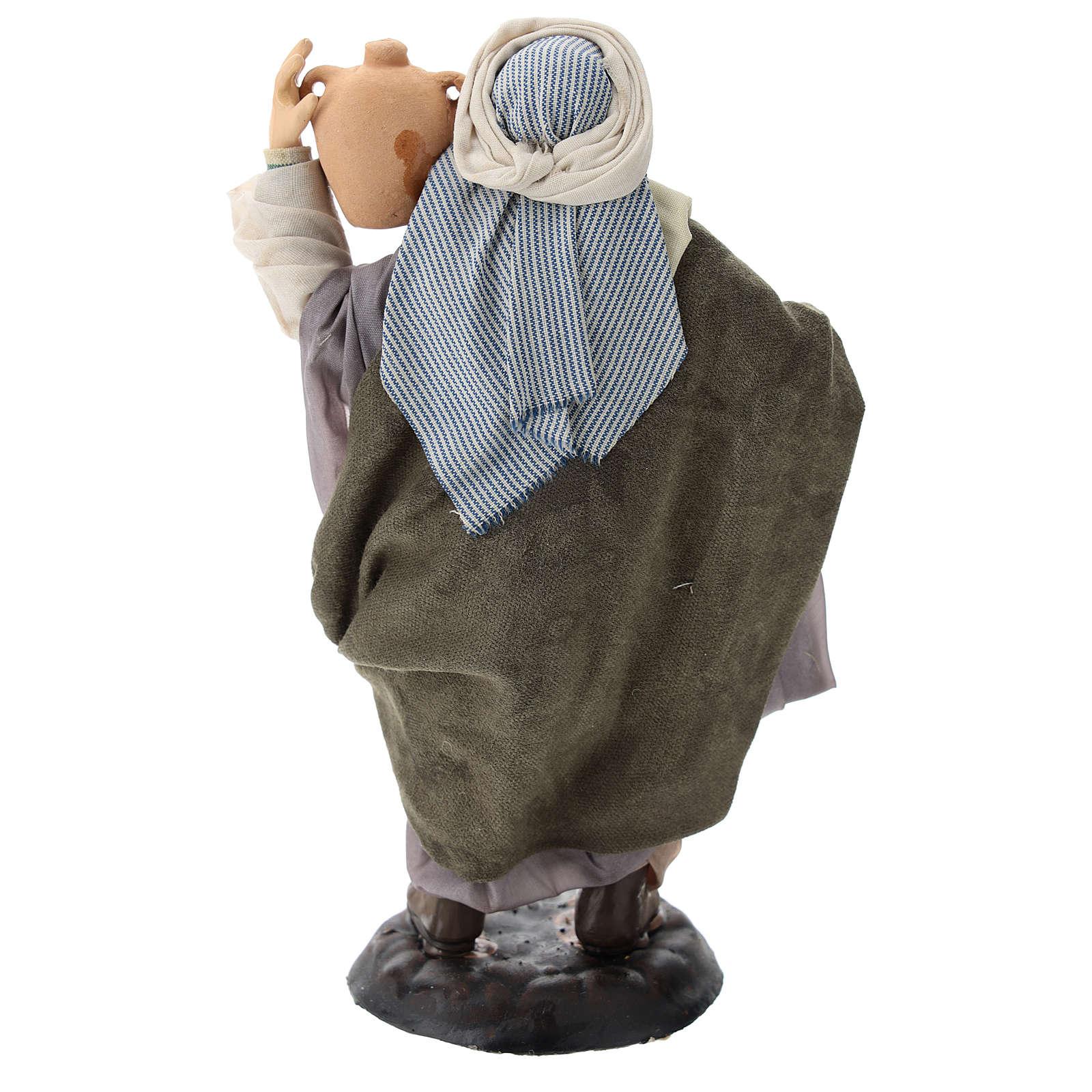 Neapolitan Nativity figurine, man with amphora, 18 cm 4
