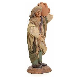 Neapolitan Nativity figurine, man with amphora, 18 cm s2