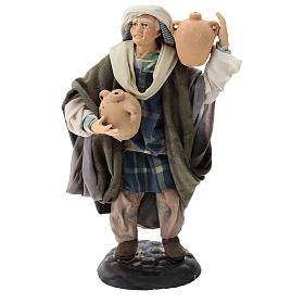 Neapolitan Nativity figurine, man with amphora, 18 cm s1