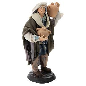 Neapolitan Nativity figurine, man with amphora, 18 cm s4