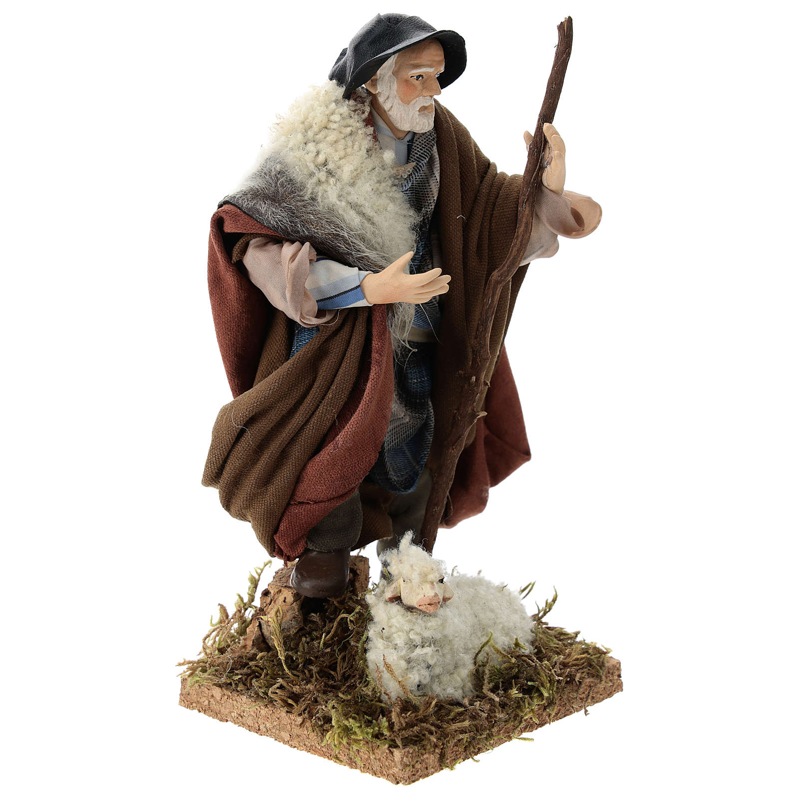 Neapolitan Nativity figurine, shepherd, 18 cm 4