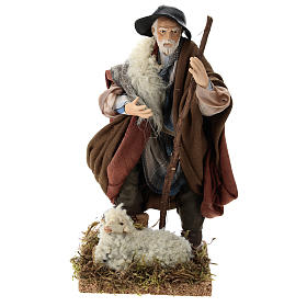 Neapolitan Nativity figurine, shepherd, 18 cm s1